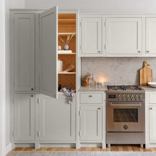 Gray Scandinavian Shaker Kitchen Showroom