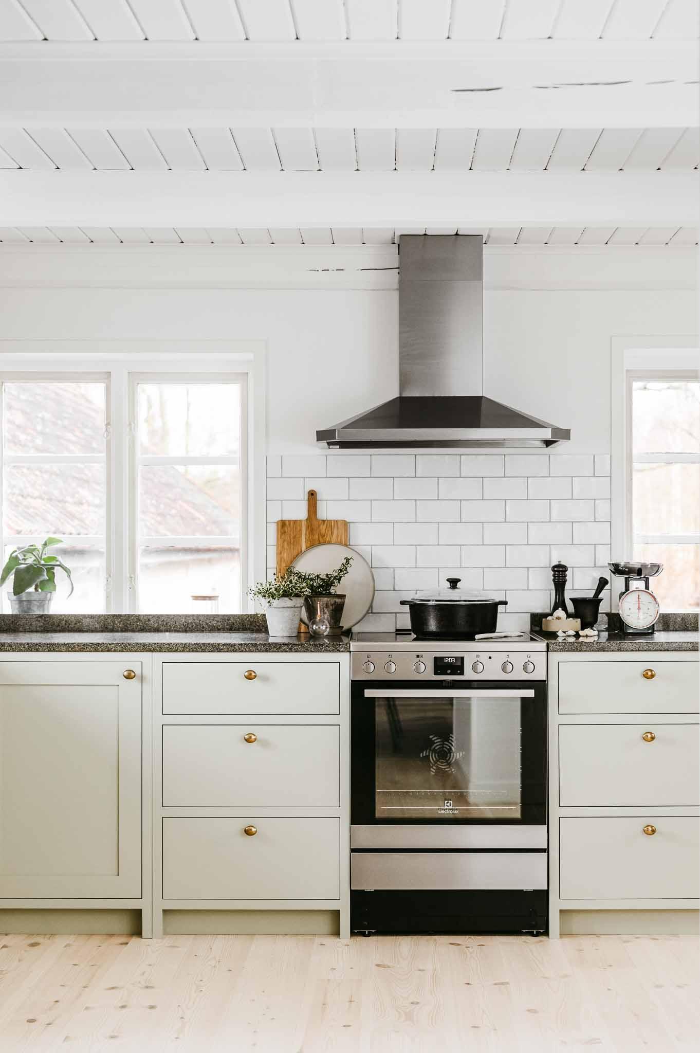 Green Scandinavian Shaker Kitchen