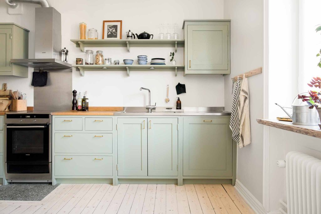 Green shaker kitchen from Scandinavian Shaker Kitchen