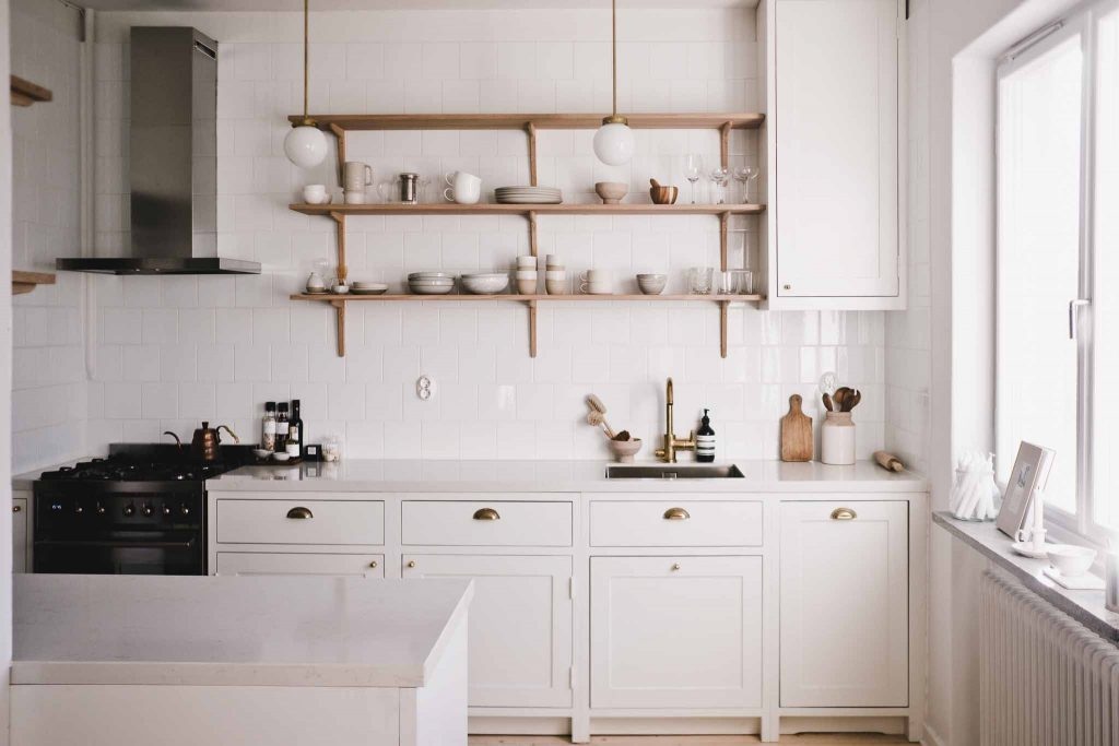 White Scandinavian Shaker Kitchen Marta Vargas