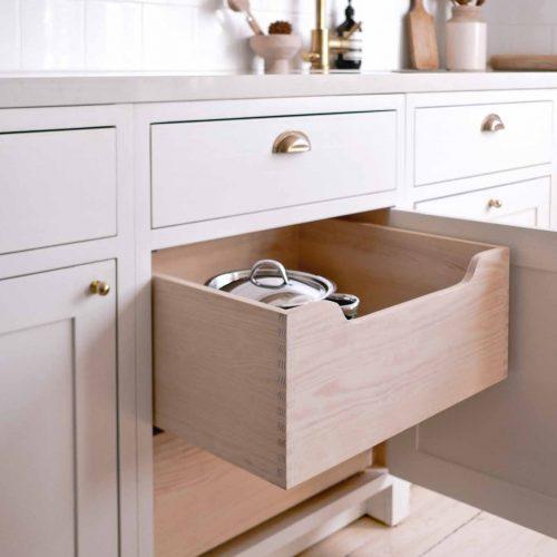 White Scandinavian Shaker Kitchen Marta Vargas Drawer