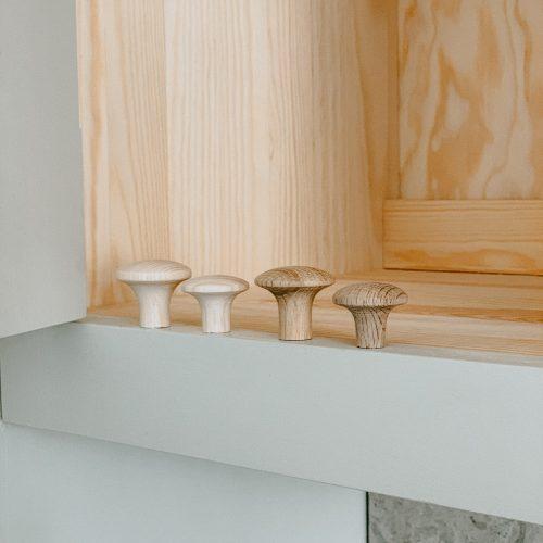 4 wooden knobs from Scandinavian Shaker Kitchen